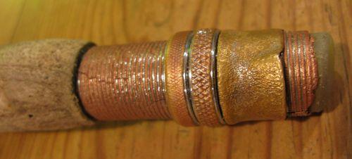 Close up of metal work