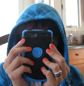 Blue Sweat Shirt and Matching Blue Android