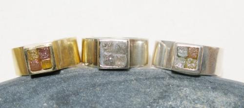Diamond cube rings