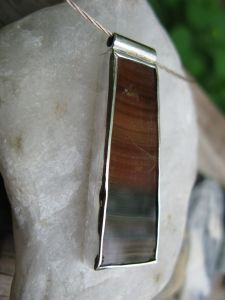 Banded Agate in Silver