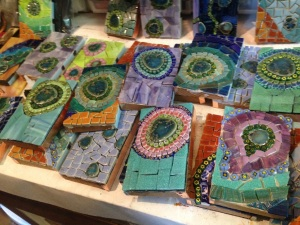 Mosaic plates (some are used for light switch covers)