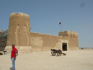 Fort Al Zubara and my new friend Surya